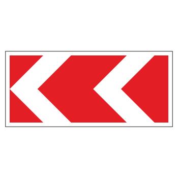 Дорожный знак 1.34.2 «Направление поворота» (средний) (металл 0,8 мм, III типоразмер: 700х1625 мм, С/О пленка: тип Б высокоинтенсивная)