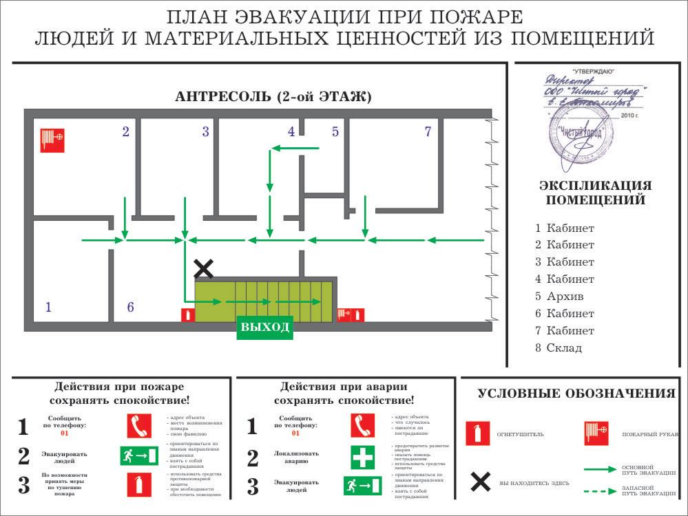 План эвакуации А3 (400×300 мм)