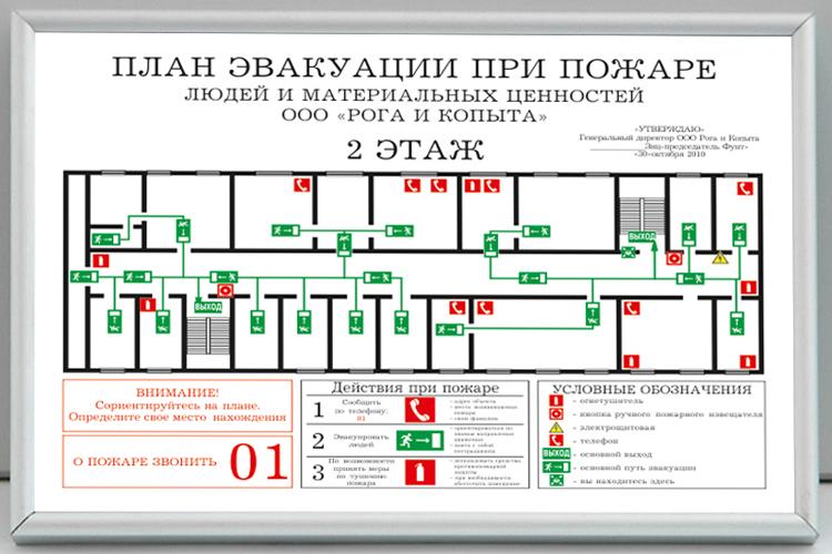 как нарисовать план эвакуации